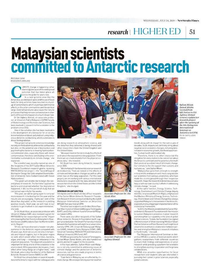 Malaysian Scientist Committed to Antarctic Research